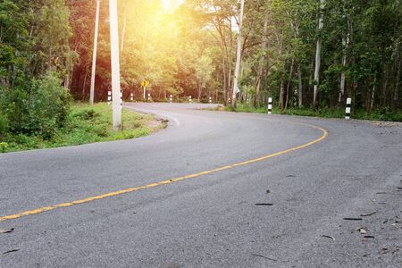 wellness environment: curved road with lighting vintage style