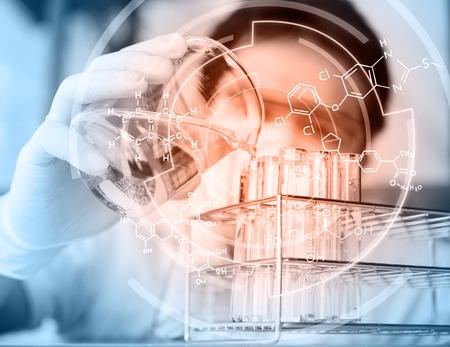Las pruebas y la investigación de los laboratorios de análisis.