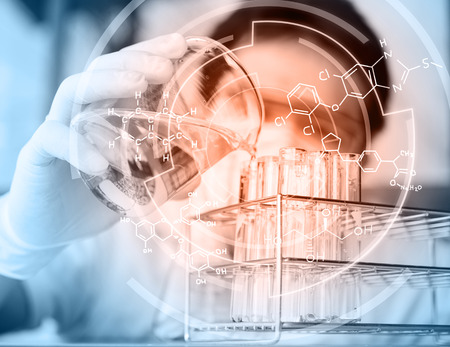 organic chemistry: The testing and research analytical laboratories. Stock Photo