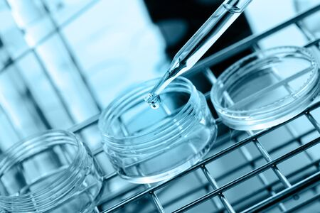 dropping: Laboratory research, dropping liquid to test tube
