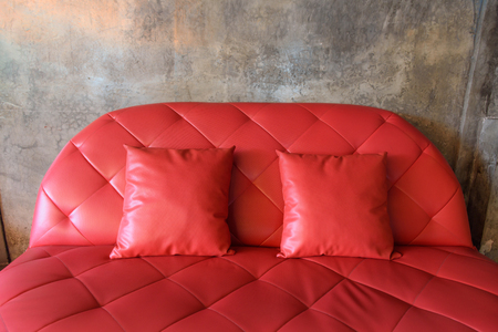 red sofa: red sofa with  grunge background