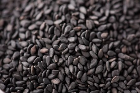 black Sesame close up shot Banque d'images