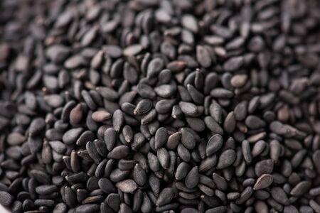 black Sesame close up shot Foto de archivo