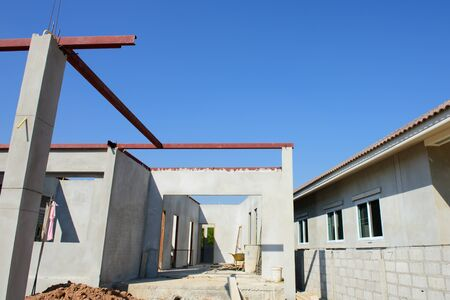 residential construction: building residential construction house with