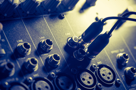 audio mixer, music equipment Stock Photo