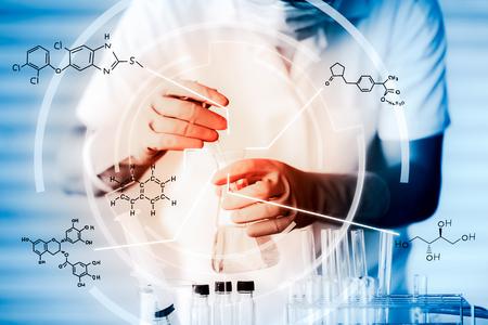 科学機器、科学 experiments.with の化学反応式 写真素材