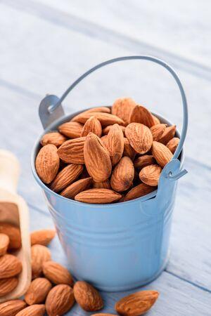 Almonds in bucket