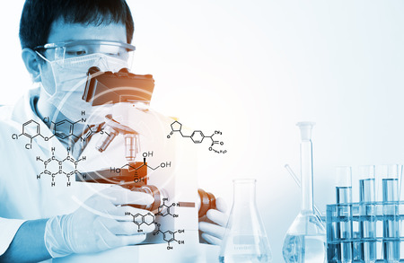 science scientific: Scientists and scientific equipment In the laboratory,Laboratory research concept,science background Stock Photo