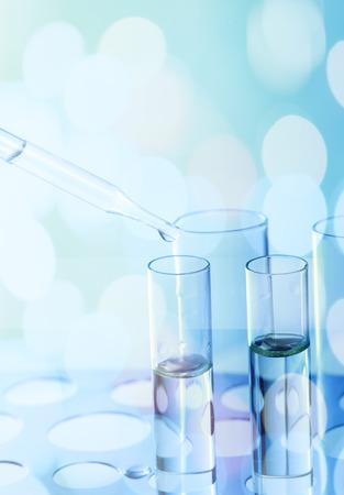 tubos de ensayo de laboratorio de ciencia, formación científica