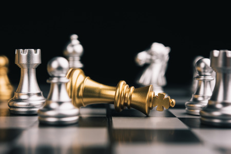 Chess game competition business concept , Business competition concept Fighting and confronting problems, threats from surrounding problems. Exhibited under the concept of games.