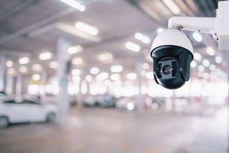 CCTV Security Camera setup on Parking lot Reklamní fotografie
