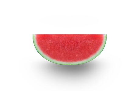 watermelon slice with white background. summer time Imagens