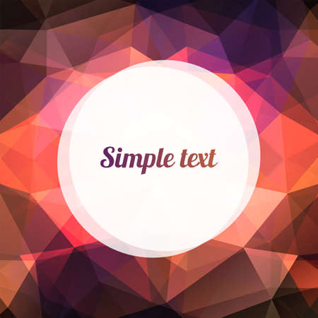Geometric abstract pattern with triangle and place for the text Vector