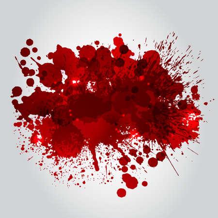 Grunge background with bright red splash. Vector illustration Vector