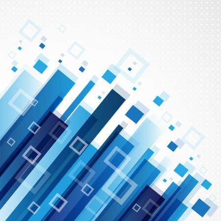 디지털 파란색 배경 사각형 및 사각형 '