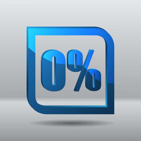 pricetag: Sale blue label zero percent price template