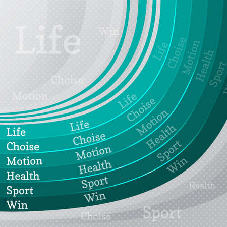 choise: sport life abstract background with turquoise lines