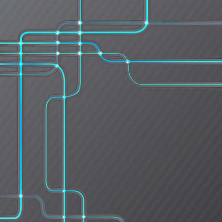 Abstract technical hitech grunge grey lines background Vector