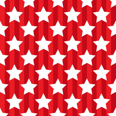 Seamless red pattern with star patriotic usa Stock Illustratie