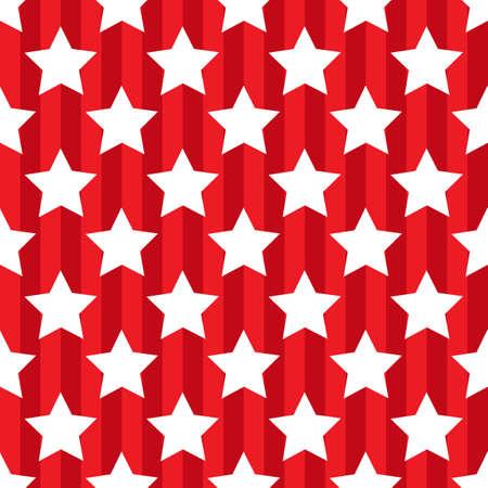 Patrón de color rojo sin costuras con la estrella patriótica EE.UU.