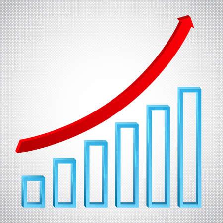 Groei grafiek concept met ricing pijl analytics grafiek