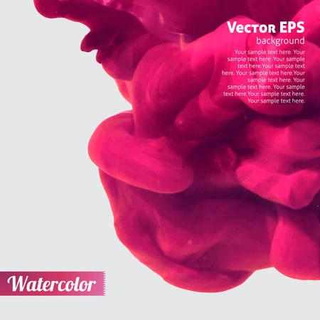물 핑크 추상적 인 배경에 잉크 소용돌이