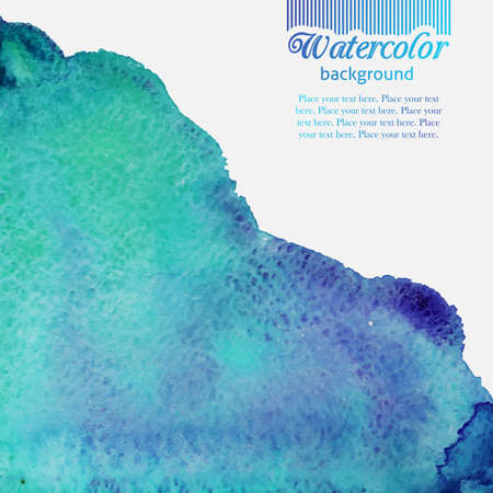 splashed: Turquoise blue watercolor splashed pattern with ink