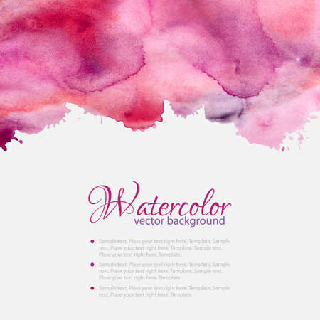colorful paint: Pink watercolor blots pattern top frame