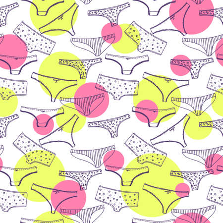 Seamless pattern wirh underclothes violet panties Vector