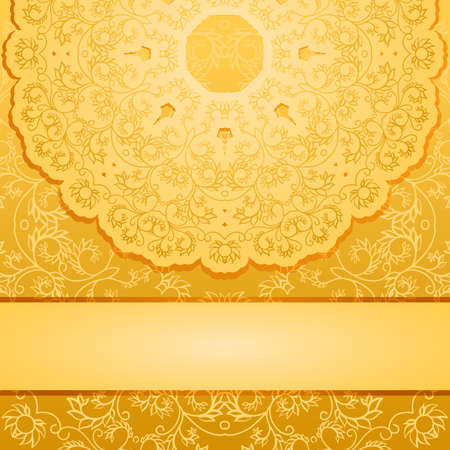 royal wedding: Elegant gold backgroundΠIllustration