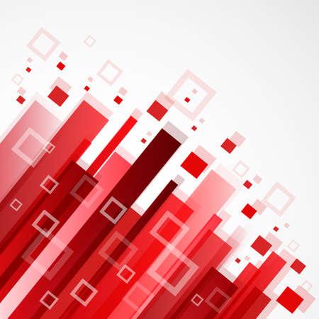 Digitale rode achtergrond Stock Illustratie