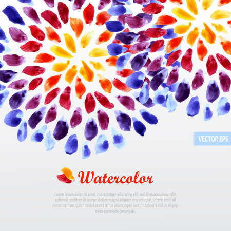 Watercolor template colorful rainbow brushstrokes Stock Illustratie