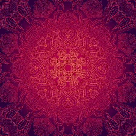 레이스 꽃 장식 보라색과 바이올렛 추상 패턴