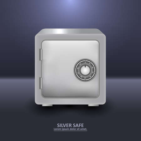 stainless steal: Silver security safe with combination lock