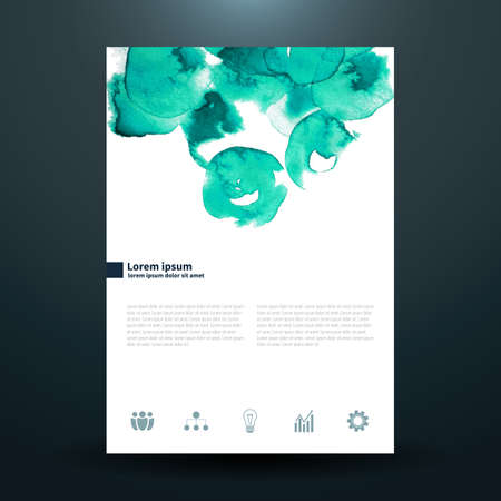 aqua effect: Watercolor business template with circles