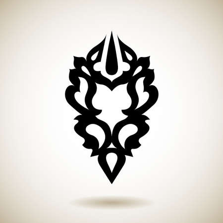 Tribal reflected black tattoo Vector