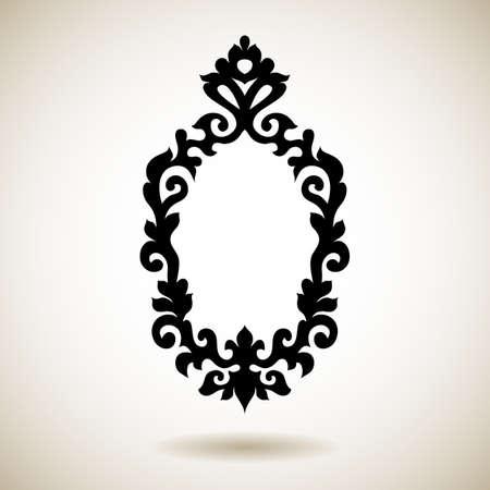 부족은 검은 문신 프레임을 반영합니다. 손 장식 거울 패턴을 그려.
