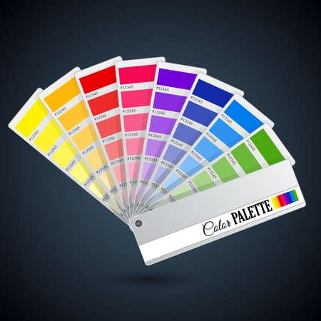 color swatch book: Color palette guide. Catalogue cards Illustration