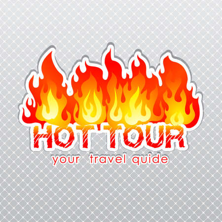 hot tour: Travel agency hot tour burn label