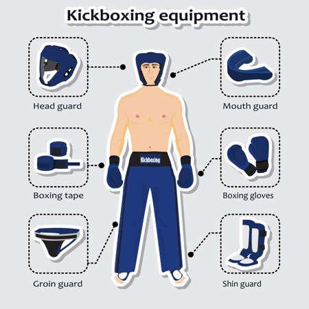 sport equipment: Sport equipment for kickboxing martial arts