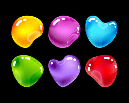 Glossy jewel stones for game design