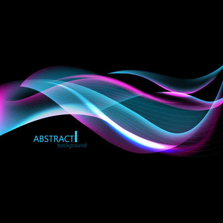 hitech: Abctract hi-tech background with waves for screen Illustration