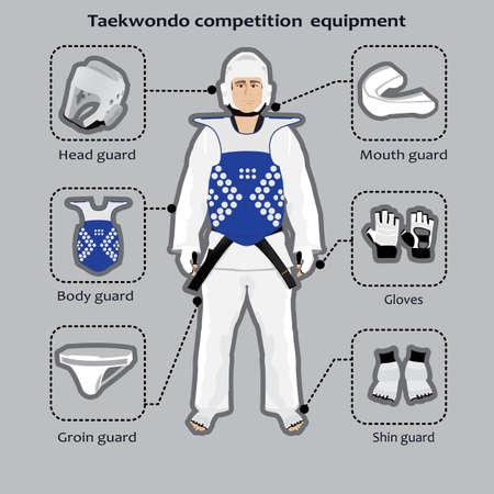 Taekwondo krijgskunst concurrentie apparatuur Stockfoto - 44647925
