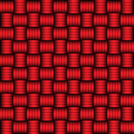 bamboo mat: Red and black geometric pattern weaving mat