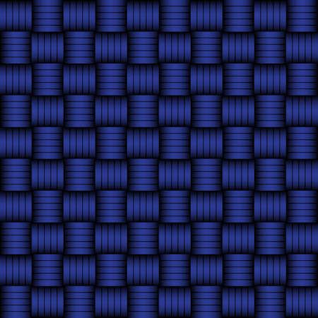 matted: Blue and black geometric pattern weaving mat