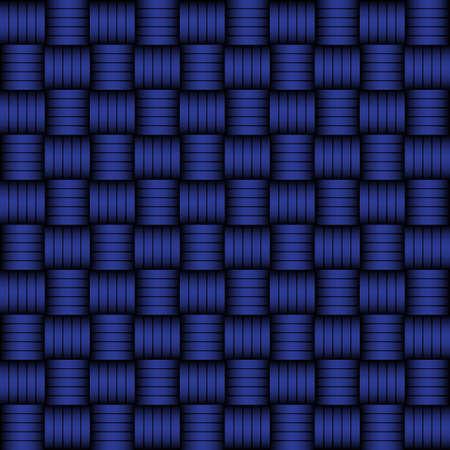 Blue and black geometric pattern weaving mat
