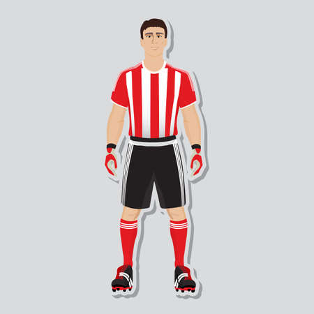 man exercise: football soccer player uniform for playing Illustration