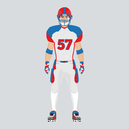 nfl: american football player and uniform for playing