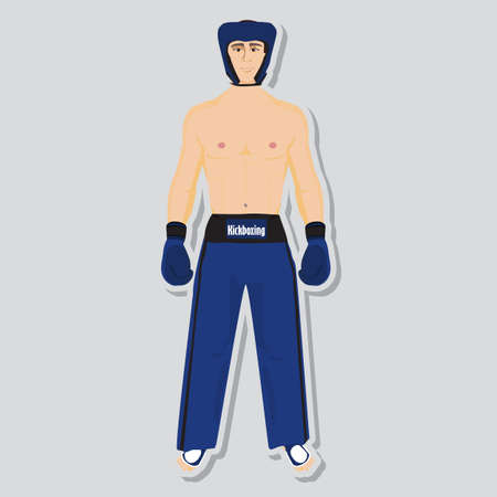 kickboxing: kickboxing fighter and wear for competition