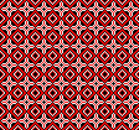rushnik: Vector illustration of ukrainian folk seamless pattern ornament. Ethnic ornament